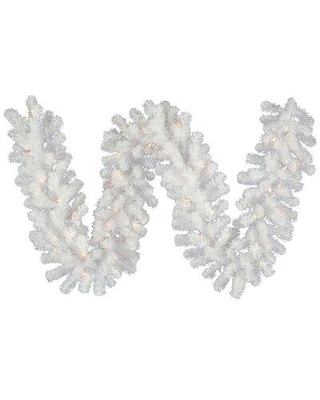 The Holiday Aisle 9' Sequoia Pre-Lit Garland with 140 Clear/White Lights X112896995 Lighting: Warm White Lighting