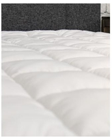eLuxury Plush Twin Xl Mattress Cover with Deep Fitted Skirt - White