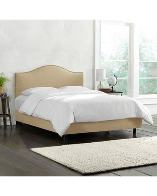 Wayfair Custom Upholstery™ Emilia Upholstered Standard Bed CSTM1508 Size: Full Body Fabric: Linen Sandstone