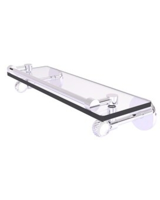 Allied Brass Clearview Collection Gallery Rail Glass Shelf with Twisted Accents (Polished Chrome - 16 Inch)