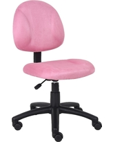 Microfiber Deluxe Posture Chair Pink - Boss Office Products