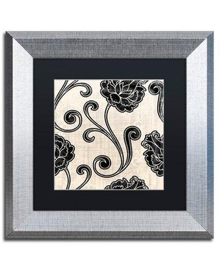 "Trademark Fine Art 'Stylesque I' Framed Graphic Art ALI4581-S1 Size: 11"" H x 11"" W x 0.5"" D Mat Color: Black"