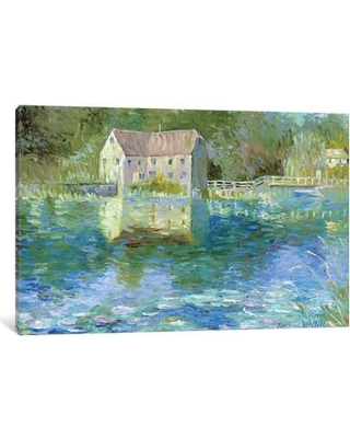 "Charlton Home® Old Mill Painting Print on Wrapped Canvas, Canvas & Fabric, Size 18"" H x 26"" W x 1.5"" D 