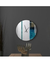 Great Prices For Latitude Run Mitigative Zealful Abstract Metal Wall Clock Metal In Blue Size Large Wayfair F90ecfd3cac04cf2822773eced465115
