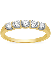 Ever Star 1/2 CT. T.W. Lab Grown White Diamond 10K Gold Band, 9 , No Color Family