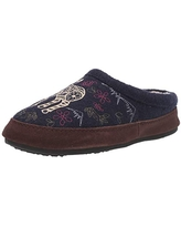 Acorn Women's Clog Slipper, Multi-Layer Memory Foam footbed With A Soft Berber Lining And Suede Sidewall, Navy Blue Mouse, 9.5-10.5