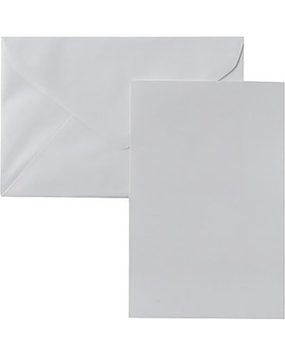 Blank Note Cards with Envelopes (50ct) - White