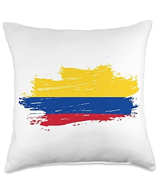 Colombia Flag Throw Pillow, 18x18, Multicolor