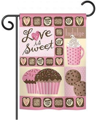 9baa27e8 Breeze Decor Love is Sweet Spring Valentines Impressions Decorative  Vertical 13