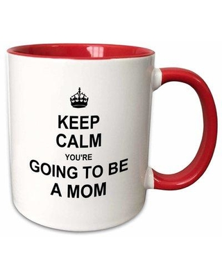 "East Urban Home Keep Calm Youre Going to Be a Mom Coffee Mug W000440032 Size: 3.75"" H x 4"" W x 3"" D Color: Red"