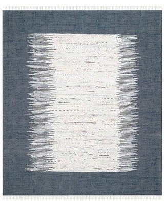 Beachcrest Home Evie Handwoven Cotton White/Navy Area Rug BCMH4483 Rug Size: Rectangle 9' x 12'