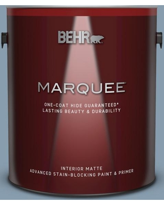 BEHR MARQUEE 1 gal. #BNC-08 Sonata Blue Matte Interior Paint and Primer in One