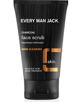 Every Man Jack Skin Clearing Activated Charcoal Face Scrub - 4.2oz
