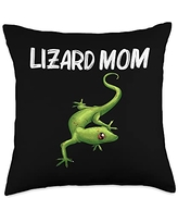 Best Lizard Anole Iguana Chameleon Pet Accessories Cool Lizard Gift For Mom Mother Gecko Green Reptile Animal Throw Pillow, 18x18, Multicolor