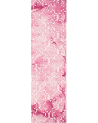Safavieh Dip Dye Rose/Ivory 2 ft. x 8 ft. Runner Rug