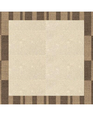East Urban Home Avi Geometric Wool Brown Area Rug X112900427 Rug Size: Square 3'