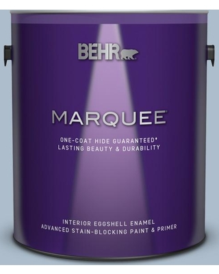 BEHR MARQUEE 1 gal. #570E-3 Liberty Gray Eggshell Enamel Interior Paint and Primer in One
