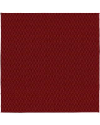 Garland Rug Medallion Chili Red 12 ft. x 12 ft. Square Area Rug
