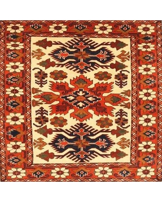 Bloomsbury Market Aluta Traditional Beige/Red Area Rug W000082040 Rug Size: Round 3'