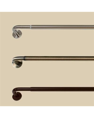 """Block Out Wrap Around Curtain Rod, 48"""" to 86"""", Espresso"""