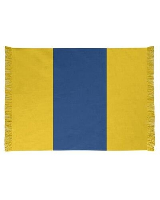 East Urban Home La Horns Throwback Football Yellow Area Rug FCJK0214 Backing: Yes