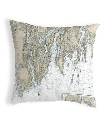 BoothBay, ME Non-Corded Indoor/Outdoor Throw Pillow East Urban Home