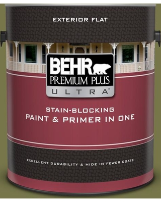 BEHR ULTRA 1 gal. #S340-7A Garnish Flat Exterior Paint and Primer in One