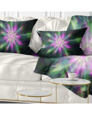 Check Out Deals On East Urban Home Abstract Fractal Shining Bright Star Lumbar Pillow Polyester Polyfill Polyester Polyester Blend In Pink Size 12x20 Wayfair