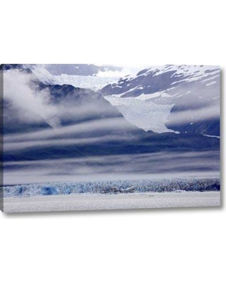 """Millwood Pines 'Alaska Clouds over Mountain and Glacier' Photographic Print on Wrapped Canvas BI152149 Size: 10"""" H x 16"""" W x 1.5"""" D"""