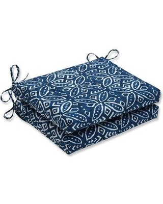 Shop Deals For Charlton Home Crichton Indoor Outdoor Dining Chair Cushion Fabric Polyester Polyester Blend In Indigo Size 3 H X 16 W X 18 D Wayfair