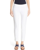 Women's Lafayette 148 New York 'Stanton' Slim Leg Ankle Pants, Size 14 - White
