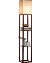 Shelf Floor Lamp with Shade - Threshold, Brown