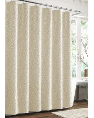 J Queen New York Ivory Sicily Shower Curtain