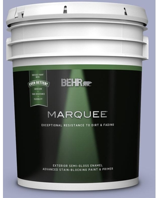 BEHR MARQUEE 5 gal. #MQ5-13 Upscale Semi-Gloss Enamel Exterior Paint and Primer in One