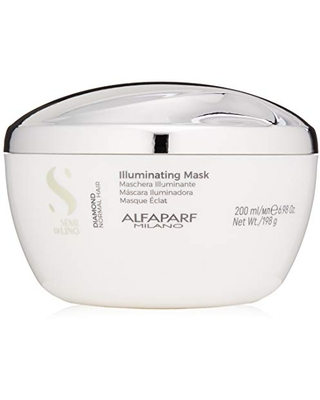 Alfaparf Milano Semi Di Lino Diamond Illuminating Hair Mask, Normal Hair, 6.98 oz