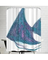 East Urban Home Jetty Printables Tribal Boho Angel Fish Shower Curtain URBR5392