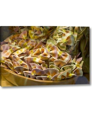 """Ebern Designs 'Italy Venice Bow Tie Pasta in Bowl in Store' Photographic Print on Wrapped Canvas BI156016 Size: 10"""" H x 16"""" W x 1.5"""" D"""