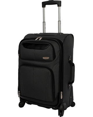 """Skyline 21"""" Spinner Carry On Suitcase - Gray"""