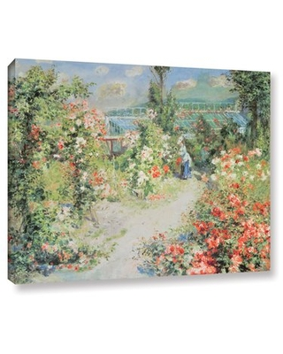 """'The Conservatory' by Pierre Renoir Painting Print on Wrapped Canvas Alcott Hill Size: 14"""" H x 18"""" W x 2"""" D"""