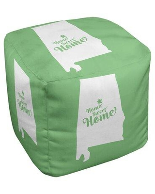 East Urban Home Home Sweet Birmingham Ottoman in Cube Insert (18 x 18 x 18) EBJC3047 Upholstery Color: Green