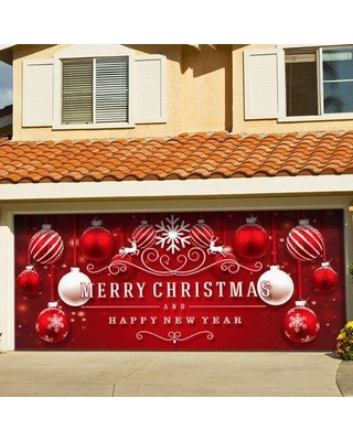 The Holiday Aisle Ornaments in Snow Garage Door Mural THLY5417