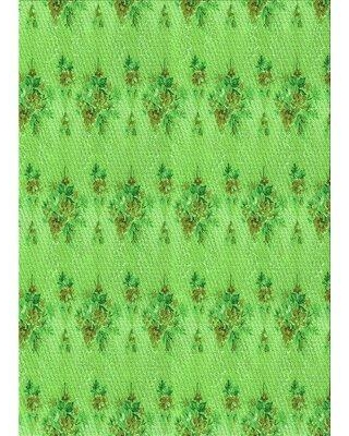 East Urban Home Stoddard Floral Wool Green Area Rug X112495074 Rug Size: Rectangle 2' x 5'