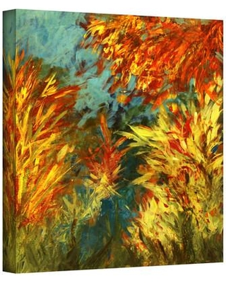 """ArtWall 'Quiet Lake I' by Jan Weiss Graphic Art on Wrapped Canvas janw-017 Size: 24"""" H x 24"""" W"""