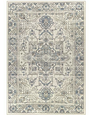 Maples Rugs Area Rugs - Distressed Tapestry 7 x 10 Large Rug [Made in USA] for Living Room, Bedroom, and Dining Room, Neutral