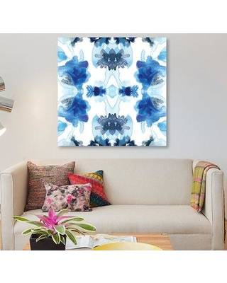 "East Urban Home 'Blue Kaleidoscope II' Graphic Art Print on Canvas ESUH4870 Size: 48"" H x 48"" W x 1.5"" D"