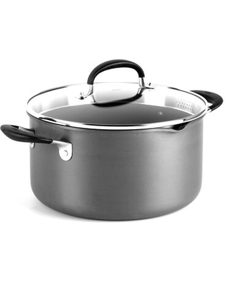 OXO 6 qt. Non-Stick Hard-Anodized Aluminum Stock Pot with Lid OXO