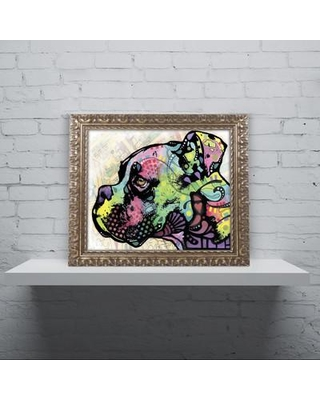 "Trademark Fine Art 'Profile Boxer Deco' Ornate Framed Painting Print on Canvas ALI1646-G1114F / ALI1646-G1620F Size: 20"" H x 16"" W x 0.5"" D"