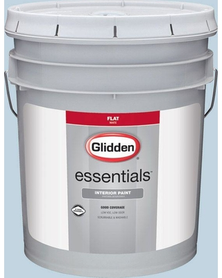 Glidden Essentials 5 gal. #HDGB57 Bastille Blue Flat Interior Paint