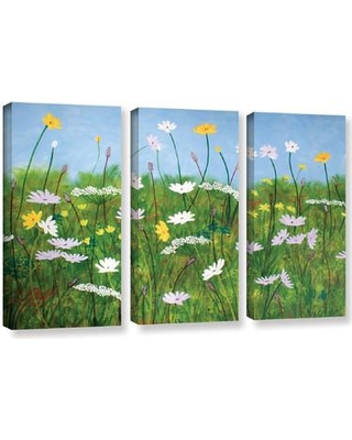 """August Grove Wildflowers of Finland 3 Piece Photographic Print on Wrapped Canvas Set AGGR5465 Size: 24"""" H x 36"""" W x 2"""" D"""