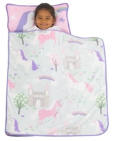Everything Kids Pink Unicorn Toddler Nap Mat with Pillow and Blanket